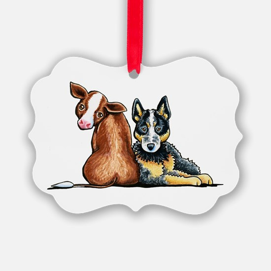 ACD and Cow Ornament