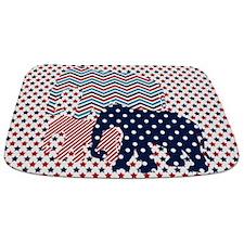 Cute Blue elephant Bathmat