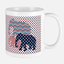 Patriotic Elephants Mugs