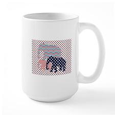 Patriotic Elephants Mugs