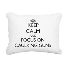 Cute Keep calm and carry on gun Rectangular Canvas Pillow
