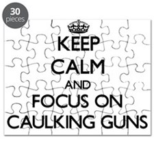 Cute Keep calm and carry on gun Puzzle