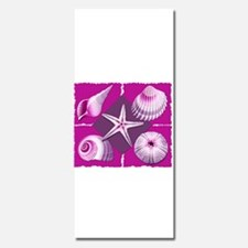 Collage of Beach Seashells Hot Pink and Purple Inv