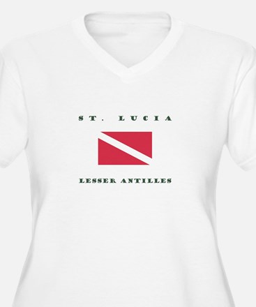 Saint Lucia Lesser Antilles Dive Plus Size T-Shirt