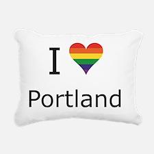 I Rectangular Canvas Pillow
