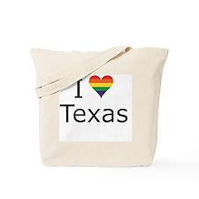 Cute Texas gay pride Tote Bag