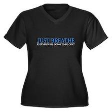 Just Breathe Plus Size T-Shirt