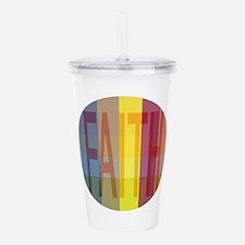 Multicolored Faith Acrylic Double-wall Tumbler