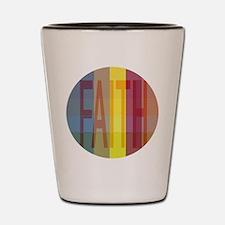 Multicolored Faith Shot Glass