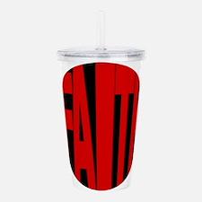 Faith Red And Black Acrylic Double-Wall Tumbler