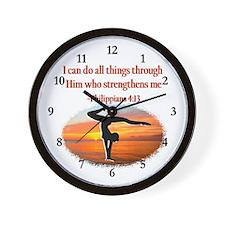 GYMNAST PHILIPPIANS Wall Clock
