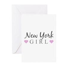 New York Girl Greeting Cards