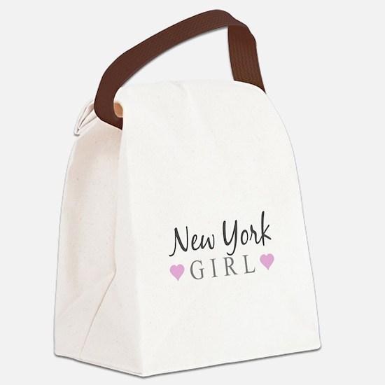 New York Girl Canvas Lunch Bag