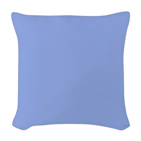 Solid Periwinkle Blue Woven Throw Pillow by LeatherwoodBedroomDuvet