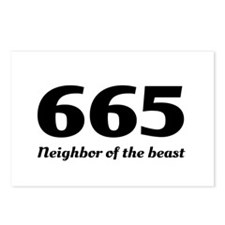 665 neighbor of the beast Postcards (Package of 8)