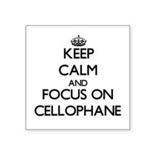 Keep Calm and focus on Cellophane Sticker