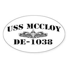 USS McCLOY Decal
