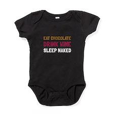 Chocolate Wine Naked Baby Bodysuit