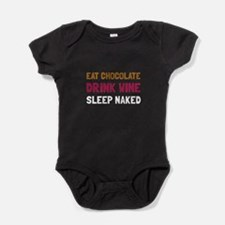 Chocolate Wine Naked Baby Bodysuit