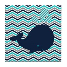 Unique Whale Tile Coaster