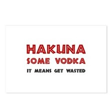 Hakuna Some Vodka Postcards (Package of 8)