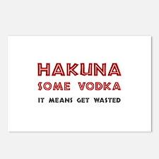 Hakuna Some Vodka Postcards (Package of 8)