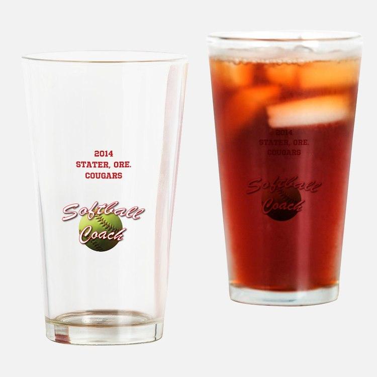 Softball Coach Drinking Glass