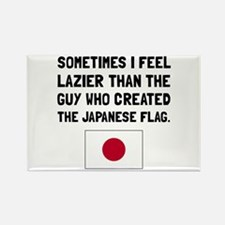 Lazier Japanese Flag Magnets
