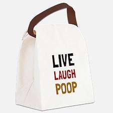 Live Laugh Poop Canvas Lunch Bag