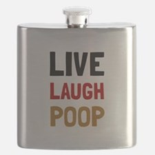 Live Laugh Poop Flask