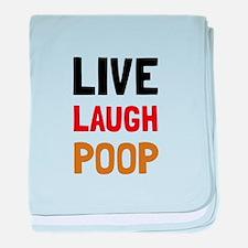 Live Laugh Poop baby blanket
