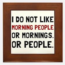 Morning People Framed Tile