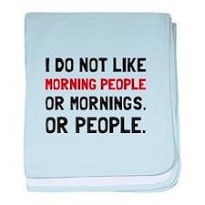 Morning People baby blanket