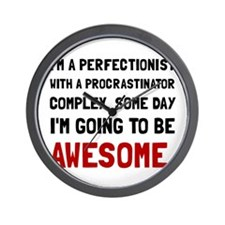 Procrastinator Awesome Wall Clock