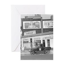 Garage and Gas Station, 1940 Greeting Cards