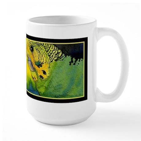 Green Budgie Large Mug