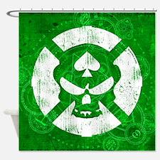 KROVEN Green Shower Curtain