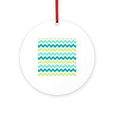 Cute Chevron Ornament (Round)