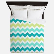 Unique Teal Queen Duvet