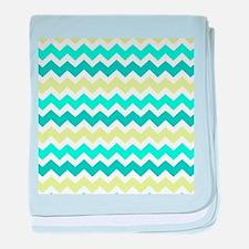 Funny Turquoise baby blanket