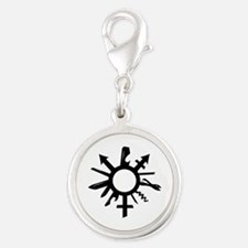 Silver Round Charm Charms
