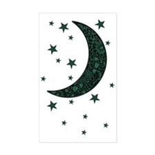 green moon stars flowers Decal