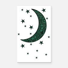 green moon stars flowers Rectangle Car Magnet