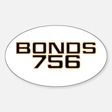 BONDS756 Oval Decal