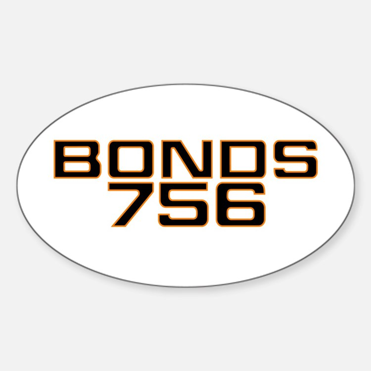 BONDS756 Oval Decal