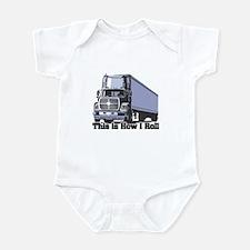 How I Roll (Tractor Trailer) Infant Bodysuit