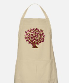 Burgundy Awareness Ribbon Tree Apron