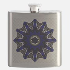 Royal BLue Starburst Flask