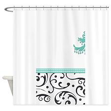 Chandelier and Swirls Shower Curtain