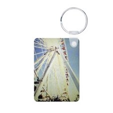 Chicago Navy Pier Aluminum Photo Keychain